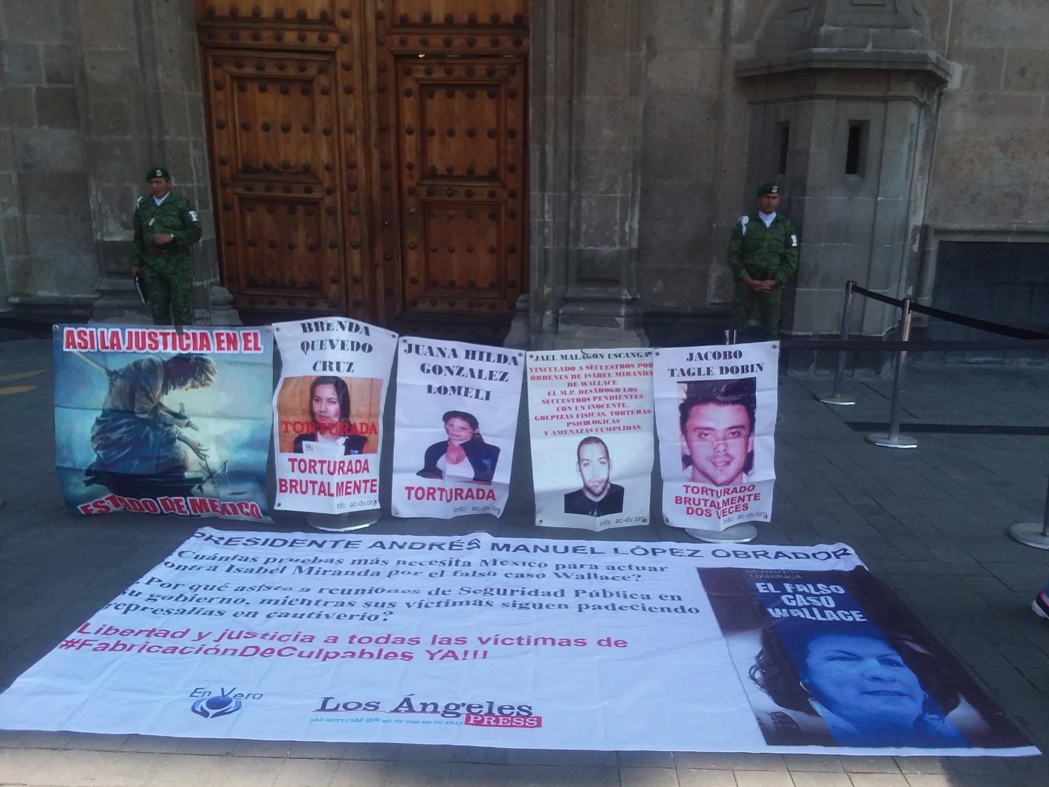 Protesta contra Miranda de Wallace ayer. Foto: Twitter/ @gpelizarraga