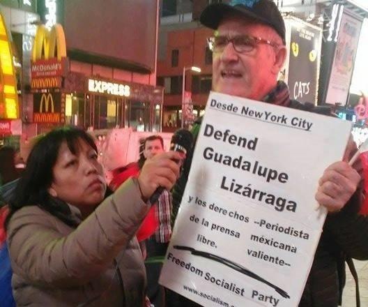 El político Stephen Durham, en las acciones de protesta por caso Wallace, en Nueva York, 2016. Foto: Los Ángeles Press.