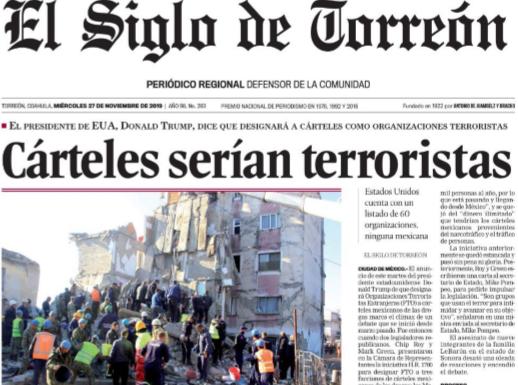 Cárteles terroristas el siglo de torreón red es poder