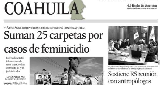 Suman 25 carpetas de feminicidio red es poder el siglo de torreón