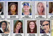 Revelan autoridades de EU la identidad de las 9 víctimas del accidente de helicóptero de Kobe Bryant