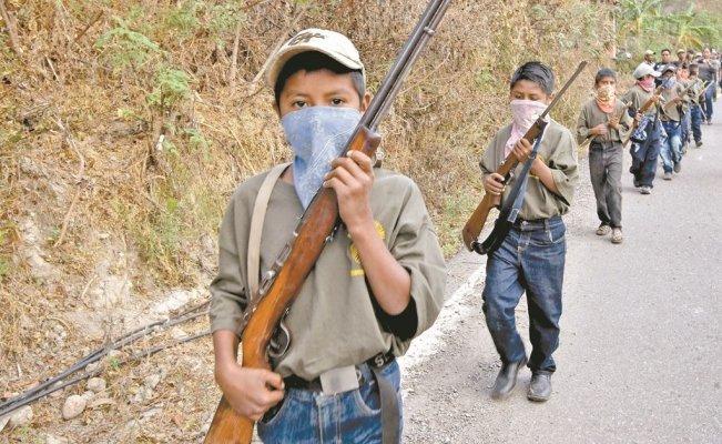 ¿Pueden niños portar armas de fuego para defender a su comunidad?<br>