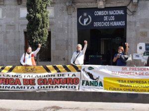 Presentan queja ante la CNDH para pedir cancelación de Chemours Laguna red es poder