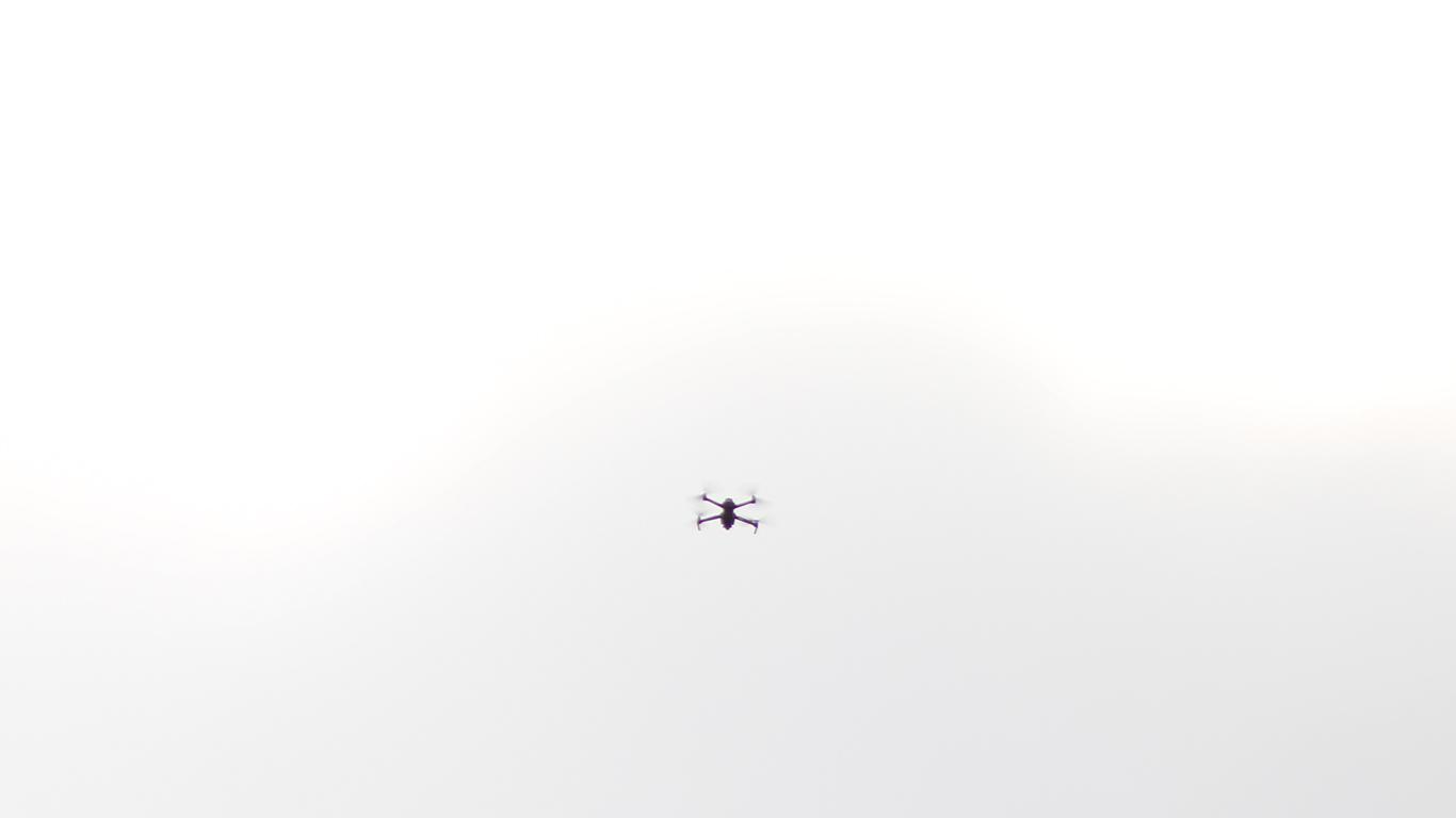 dron en plantón