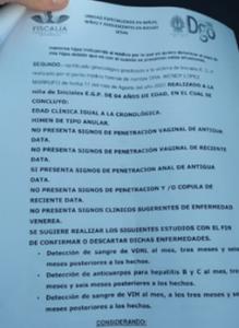 Dictamen fiscalía de durango en caso Mónica Peyro
