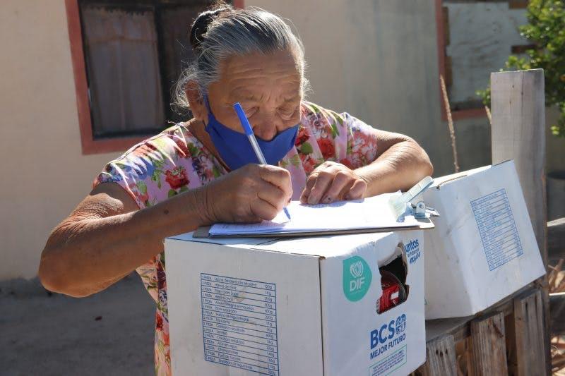Del estado de Baja California Sur ninguna dependencia entregó información de lista o padrones de beneficiarios pese a que sí compartieron imágenes de las entregas.