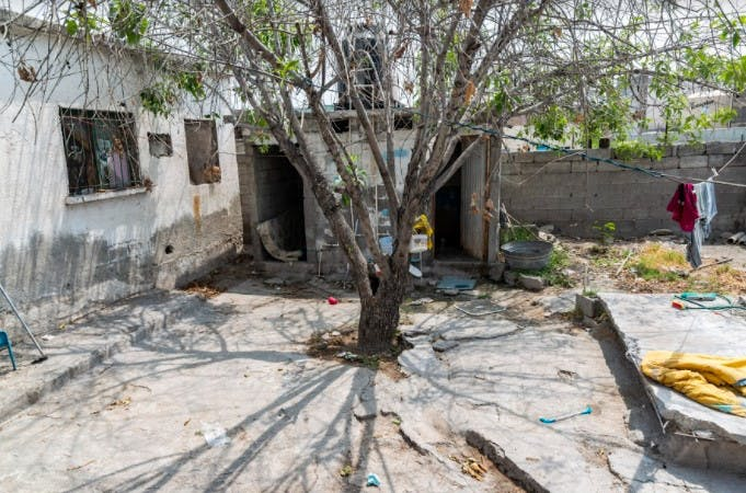 Casa donde Diana fue asesinada.