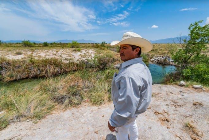 Leobardo Sánchez, ejidatario y representante legal de los agricultores.