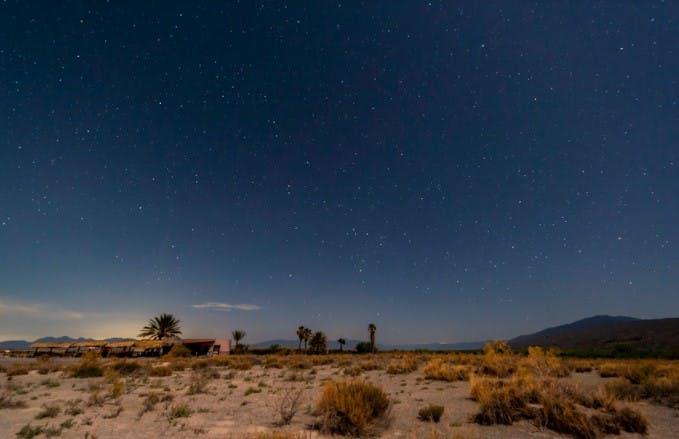 Valle de Cuatrociénegas de noche.