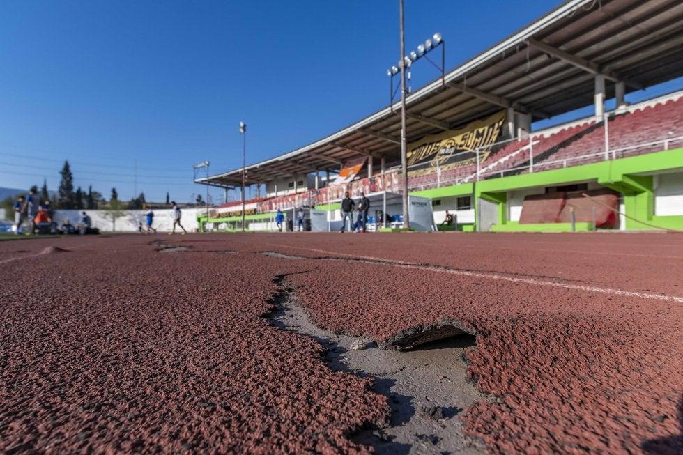 Pista de tartán del Estadio Olímpico. Foto: Omar Saucedo