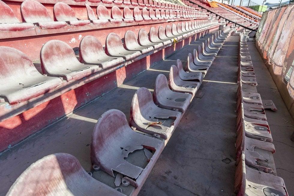 Así lucen las gradas del Estadio Olímpico. Foto: Omar Saucedo