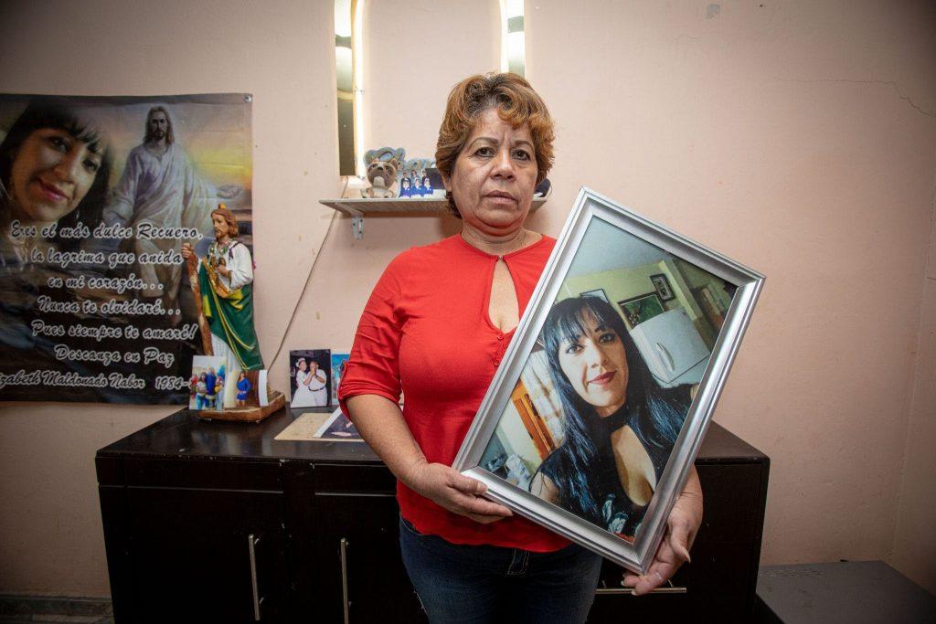 Teresa Nabor no está conforme con la sentencia que dictaron al feminicida de su hija Elizabeth Maldonado Nabor. Foto: Iván Gutiérrez.
